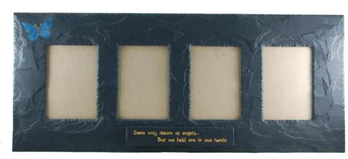 butterfly-theme-on-quadruple-slate-picture-frame-with-inscription